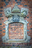Bricked sulla finestra della chiesa immagini stock libere da diritti
