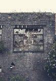 Bricked sulla finestra della fabbrica Fotografie Stock Libere da Diritti