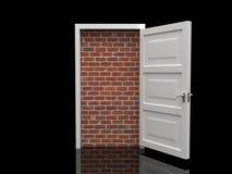 Bricked Tür. stock abbildung