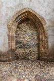 Bricked up door. On the church Royalty Free Stock Image