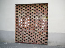 Bricked up door stock photo