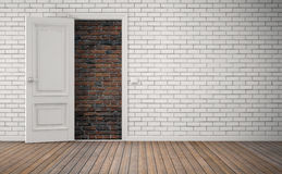 Bricked up door. No way out. 3D rendering Stock Photography