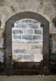 Bricked-up door in old building Royalty Free Stock Photos