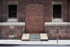 Bricked-up Doorway. A doorway that has been bricked shut Stock Photos
