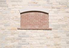 Bricked-Up Window Royalty Free Stock Photography