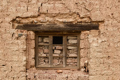 Bricked Up Window With A Hole Royalty Free Stock Image