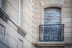 bricked upp fönster royaltyfri bild