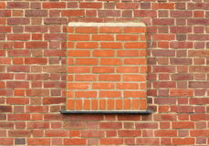 Bricked vers le haut d'hublot Image stock