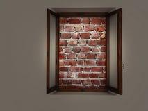 Bricked vers le haut de fenêtre, aucune évasion Santé mentale ou concept captif de piège image libre de droits