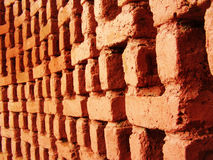 Bricked Wall. A wall made out of bricks arranged in a designer pattern Stock Photo