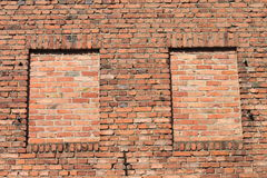 two bricked window Royalty Free Stock Photography