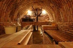 Bricked wine cellar Stock Photos