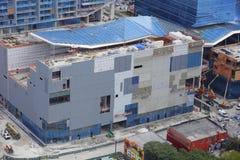 Brickell市中心空中照片建设中 库存图片