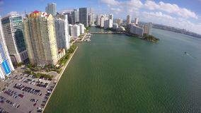 Brickell Bay aerial video stock footage