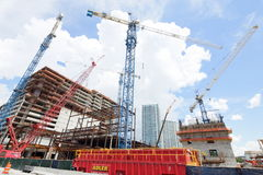 Brickell City Center under construction Royalty Free Stock Photo