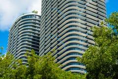 Brickell-Höhen Miami lizenzfreie stockfotos