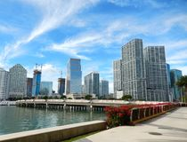 Brickell Key and Brickell Key Drive Royalty Free Stock Images