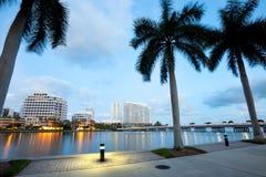 Brickell klucza i Brickell klucza przejażdżka w Miami Fotografia Royalty Free