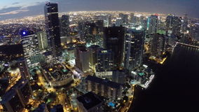 Brickell at night Royalty Free Stock Image