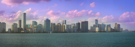 Brickell Sunset Stock Photography