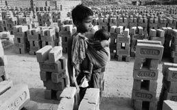 brickfieldbarn india Arkivfoton