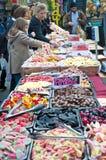 bricklane市场停转甜点 库存图片