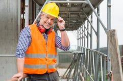 bricklayer счастливый Стоковые Фото