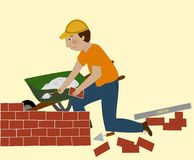 The Bricklayer Royalty Free Stock Photos