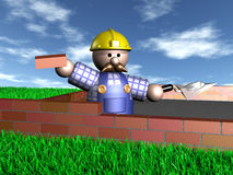 The Bricklayer Royalty Free Stock Photo