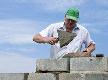 Free Bricklayer At Work Royalty Free Stock Photography - 5464257