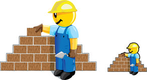 Bricklayer dude Royalty Free Stock Photography