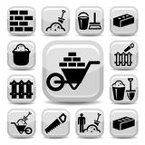 Bricklayer icons Stock Images