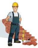 Bricklayer Stock Photo