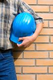 Bricklayer(mason) and bricks Stock Image