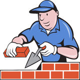 Bricklayer mason at work Royalty Free Stock Photos