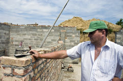 Bricklayer portrait Stock Image