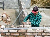 bricklayer senior Στοκ Εικόνες