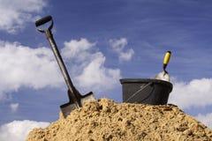 Bricklayer tools Stock Photo