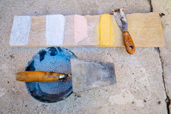 Bricklayer tools Royalty Free Stock Image