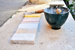 Bricklayer tools Stock Photography