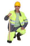 Bricklayer With Safety Outfit Stock Images