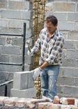 bricklayer work Στοκ εικόνες με δικαίωμα ελεύθερης χρήσης