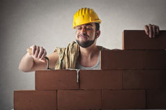 Bricklayer working Stock Photography