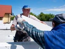 bricklayers действия Стоковое фото RF