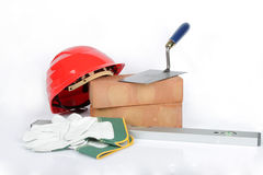 Bricklayers equipment Royalty Free Stock Photo