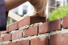 bricklaying Arkivbilder