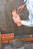 Bricklaying Royalty Free Stock Images