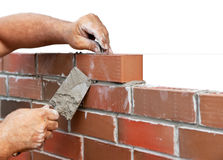 Bricklaying Royalty Free Stock Photography