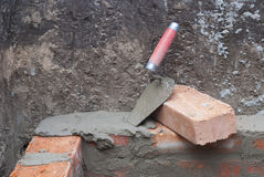Bricklaying Royalty Free Stock Photos