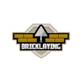 Bricklaying company logo. Vector icon Stock Photo